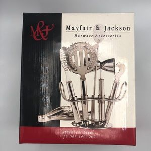MAYFAIR AND JACKSON BARWARE SET